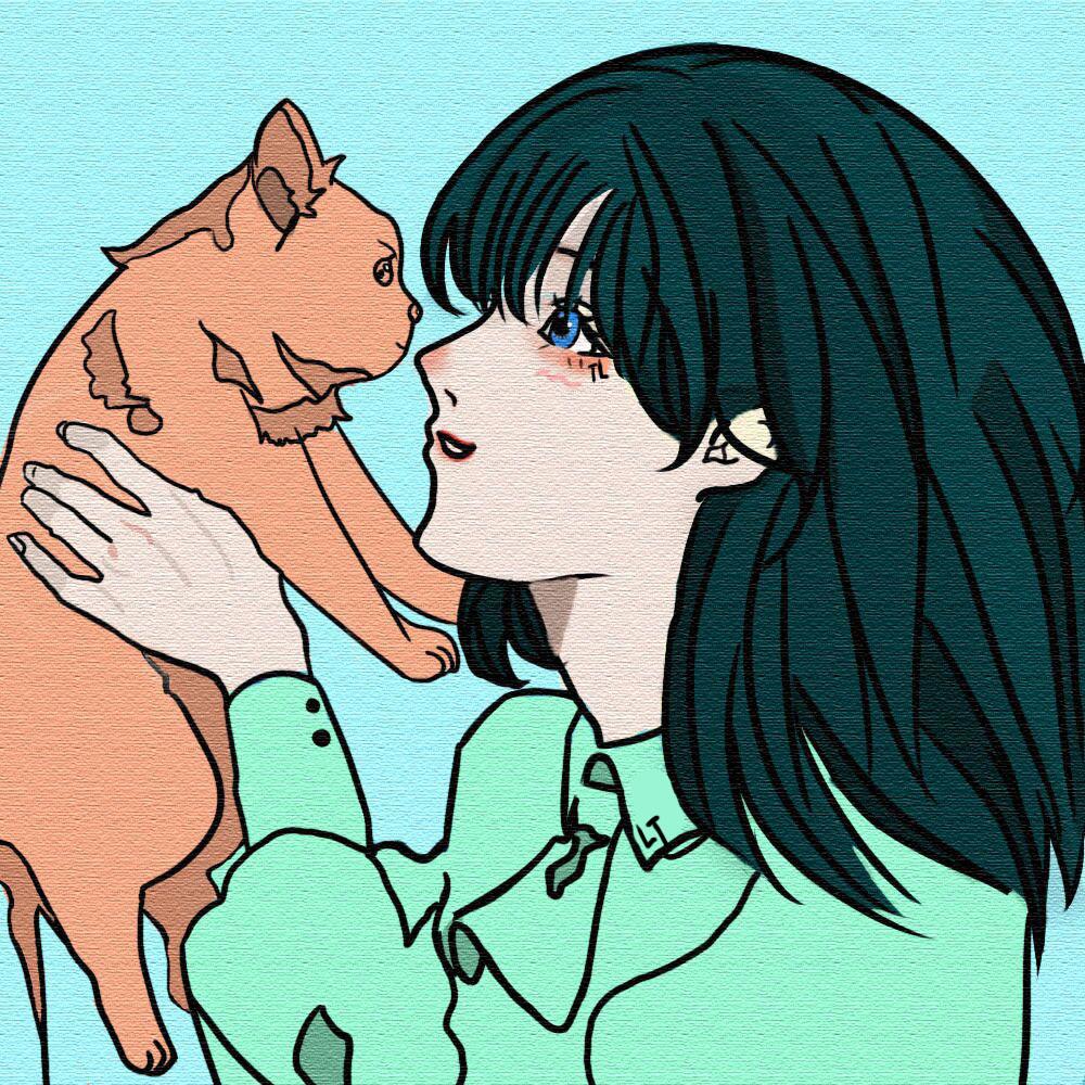 【同人插画】我与猫 同人插画-第1张